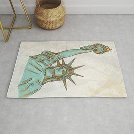 statue of liberty hand dawn Rug