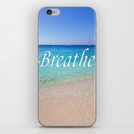 Breathe Cayman Relaxing Beach Waves iPhone Skin