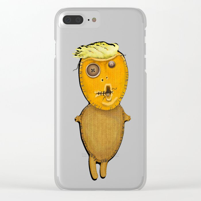 Orange Voodoo Doll Clear iPhone Case