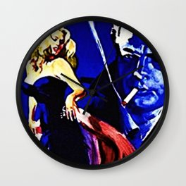 Vintage 1960 Fellini Lithograph Movie Poster Wall Art Wall Clock