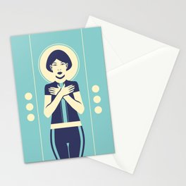 Evangeline Blue Stationery Cards