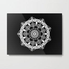 White Mandala 2 Metal Print