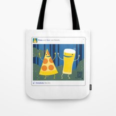 everybody likes pizza and beer Tote Bag