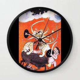 Hindu Durga 4 Wall Clock