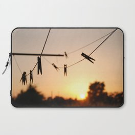 Swallows on a wire Laptop Sleeve