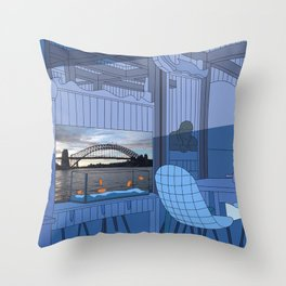 Sydney After Lunch Throw Pillow