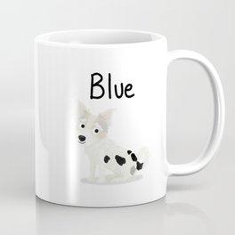 "Custom Dog Art ""Blue"" Coffee Mug"