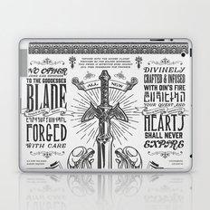 Legend of Zelda Vintage Master Sword Advertisement Laptop & iPad Skin