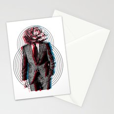 l'homme à la tête de chou Stationery Cards