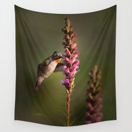 Hummingbird and flower Wall Tapestry