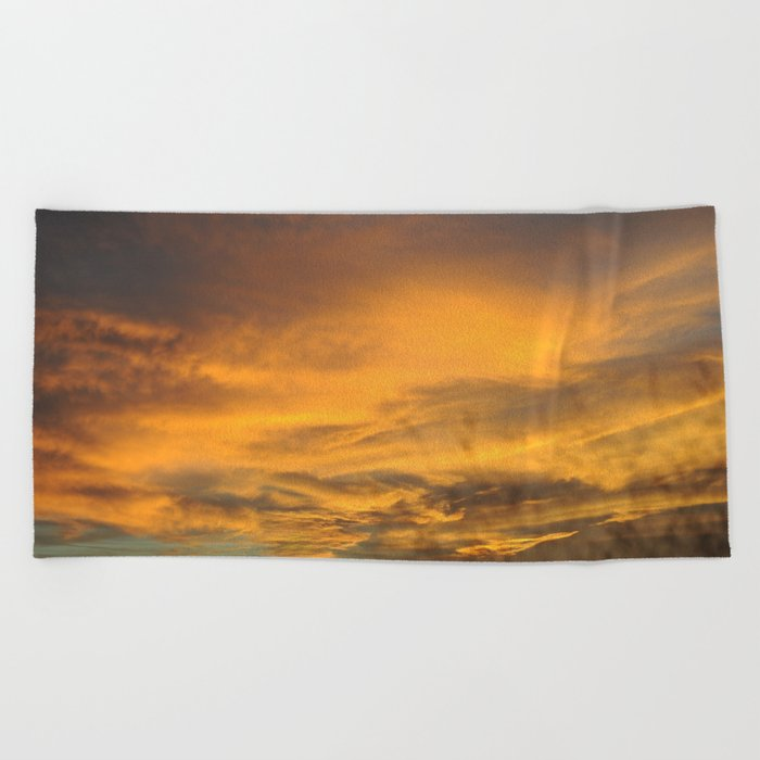 COME AWAY WITH ME - Autumn Sunset #2 #art #society6 Beach Towel