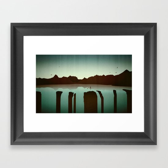 Chasing Boats Framed Art Print