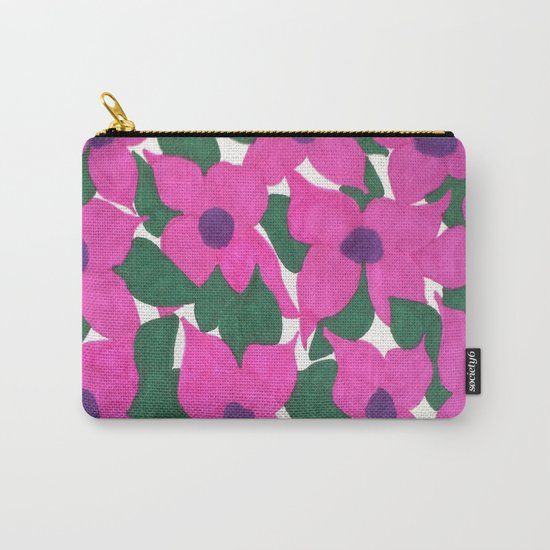 Spring Classic Pink Flowers Carry-All Pouch