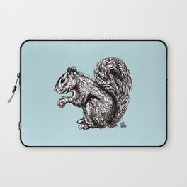 Blue Woodland Creatures - Squirrel Laptop Sleeve