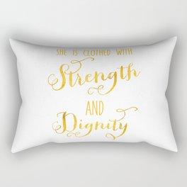 Strength and Dignity Rectangular Pillow
