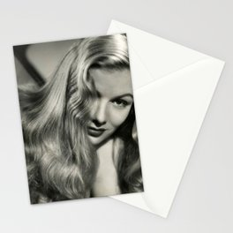 Veronica Lake black and white photography / black and white photographs Stationery Cards