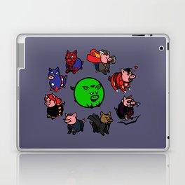 Pig-vengers Assemble! (Blue) Laptop & iPad Skin