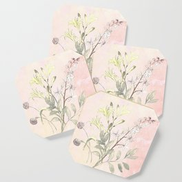 Floral collection in pastels Coaster