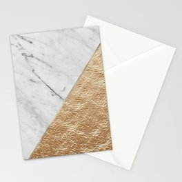 Golden jazz marble Stationery Cards