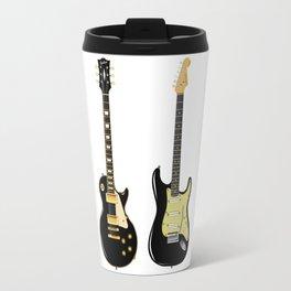Black Guitar Duo Travel Mug