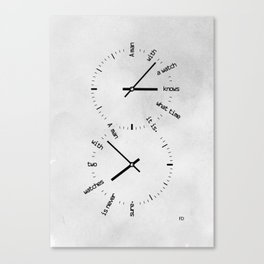 Two Watches Canvas Print