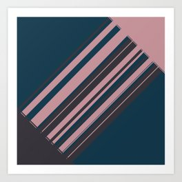 Rose stripes Art Print