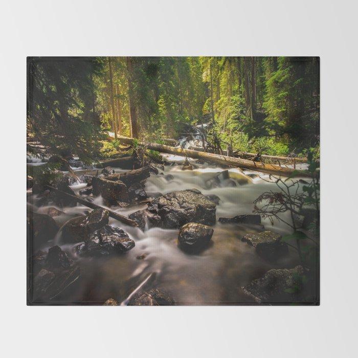 Nature's Creek  Throw Blanket