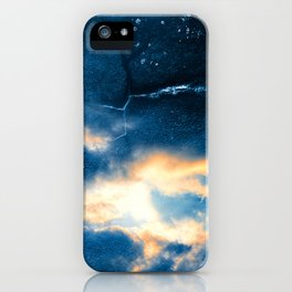Celestial Grunge Clouds iPhone Case