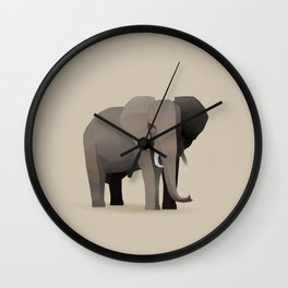 Geometric Elephant - Modern Animal Art Wall Clock