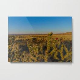 Arose in the Desert Metal Print