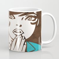 60s Mugs featuring 60s Girl by Ed Pires