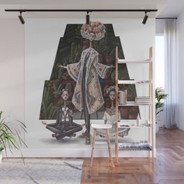 Tres Fridas:  Reimagining the styles of Frida in modern day fashion Wall Mural