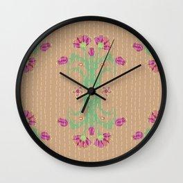 Kantha bouquet 8 Wall Clock