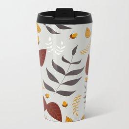 Autumn leafs and acorns Metal Travel Mug