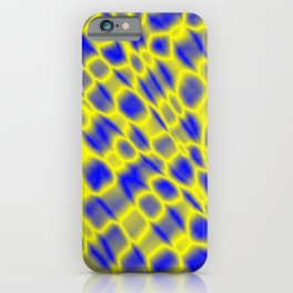 Leakage of harmful vapors of the straw mesh from cracks on wet glass.  iPhone Case