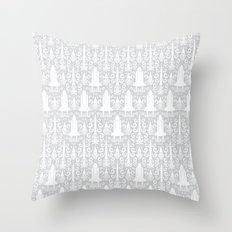 Rocket Science Damask Throw Pillow
