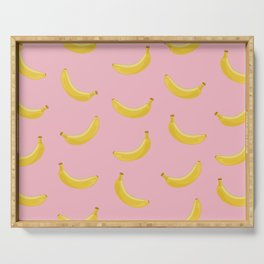 Banana in pink Serving Tray