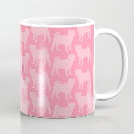Pastel Pink Pugs Pattern Coffee Mug