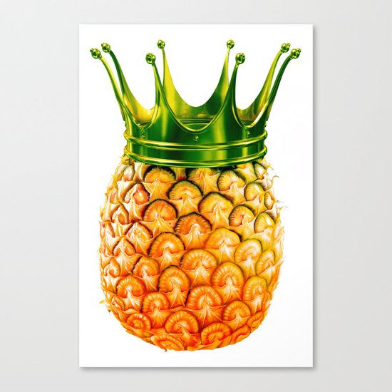 Pineapple? kingapple! Canvas Print