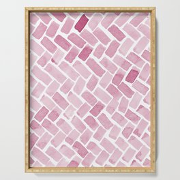 pink pavement Serving Tray