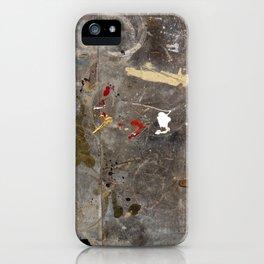 Antique Paint Splatter iPhone Case