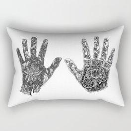 Hands of Contrast Rectangular Pillow