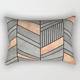 Abstract Chevron Pattern - Concrete and Copper Rectangular Pillow