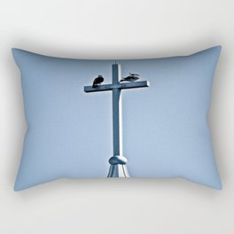 Perched on a Steeple Rectangular Pillow
