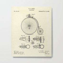 Velocipede-1888 Metal Print