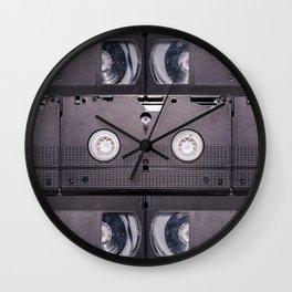 Retro VHS Cassette Photograph Pattern Wall Clock