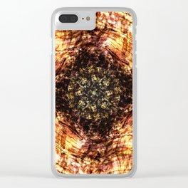 Kaleidoscope - Wood Clear iPhone Case