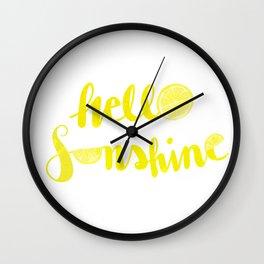 Hello Sunshine Lemons Wall Clock