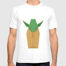 Yoda MEDIUM White Mens Fitted Tee