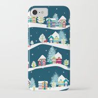 ski iPhone & iPod Cases featuring Apres Ski by Polkip